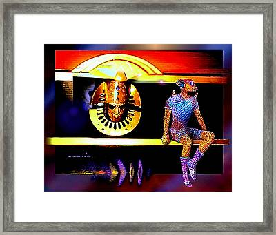 Watching  The  Game Framed Print by Hartmut Jager