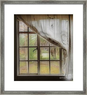 Watching The Rain Framed Print by Cheryl Young