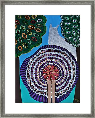 Watching The Show Framed Print by Barbara St Jean