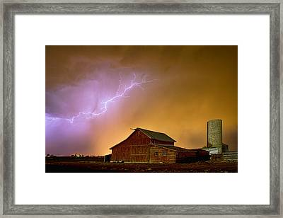Watching The Storm From The Farm Framed Print by James BO  Insogna