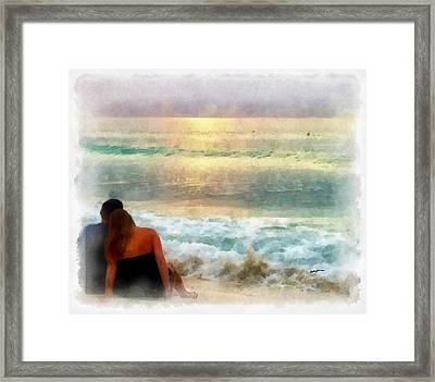 Watching The Sunset Framed Print by Anthony Caruso