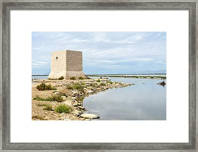 Watchtower In The Salt Lakes Framed Print by Tetyana Kokhanets
