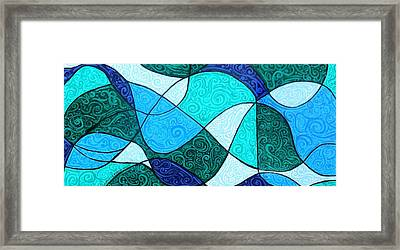 Water Abstract Framed Print by Genevieve Esson