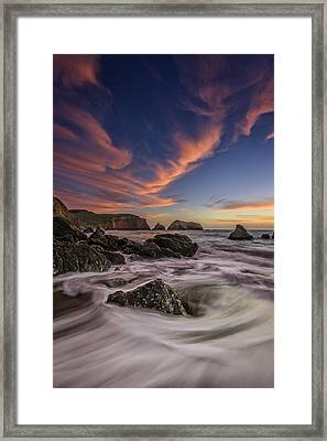 Water And Fire Framed Print by Rick Berk