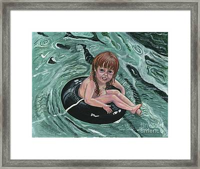 Water Babies Framed Print by Janis  Cornish