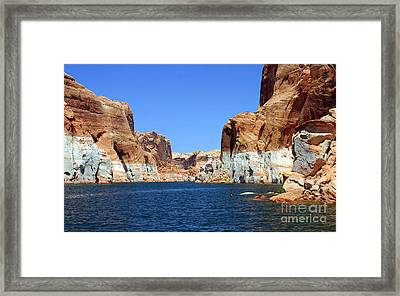 Water Canyons Framed Print by Bob Hislop