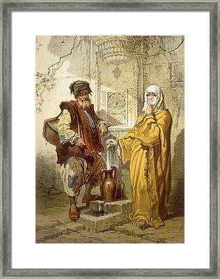 Water-carrier, 1865 Framed Print by Amadeo Preziosi