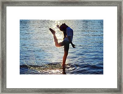 Water Dancer Framed Print by Laura Fasulo