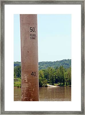 Water Depth Gauge Framed Print by Jim West