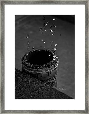 Water Dripping Up The Spout Framed Print by Bob Orsillo