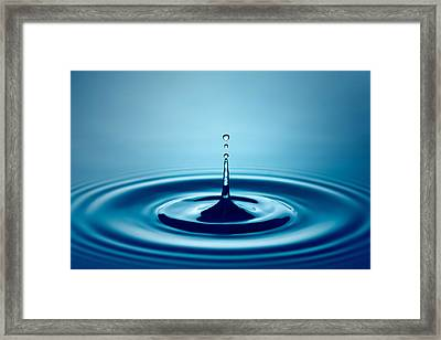 Water Drop Splash Framed Print by Johan Swanepoel