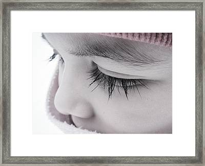 Water Droplets Framed Print by Marianna Mills
