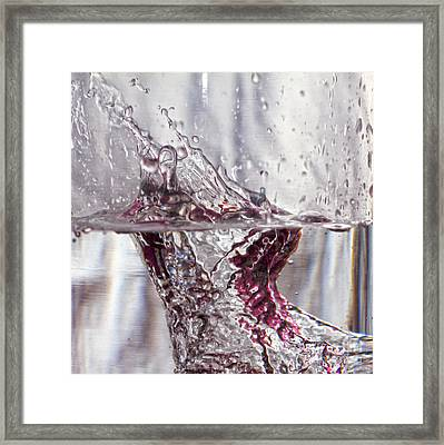 Water Drops Abstract  Framed Print by Stelios Kleanthous