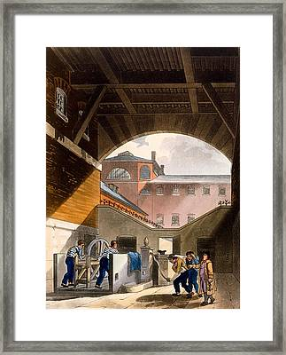 Water Engine, Coldbath Fields Prison Framed Print by T. & Pugin, A.C. Rowlandson