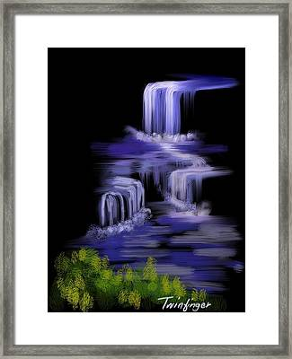 Water Falls Framed Print by Twinfinger