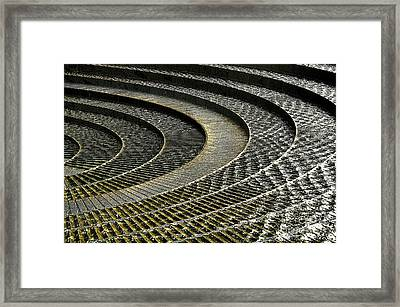 Water Feature - Light And Shadows Framed Print by Kaye Menner