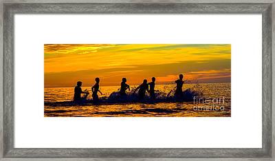 Water Football Framed Print by Anne Kitzman