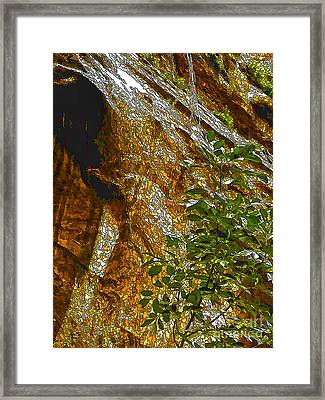 Water From Rock-dp Framed Print by Nancy Marie Ricketts