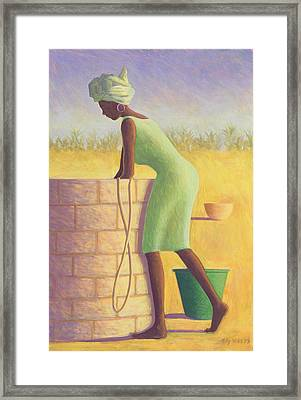 Water From The Well Framed Print by Tilly Willis