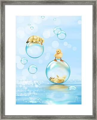 Water Games Framed Print by Veronica Minozzi