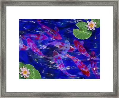 Water Garden Framed Print by Jack Zulli