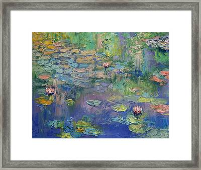 Water Garden Framed Print by Michael Creese