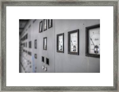 Water Gauges  Framed Print by Nathan Wright