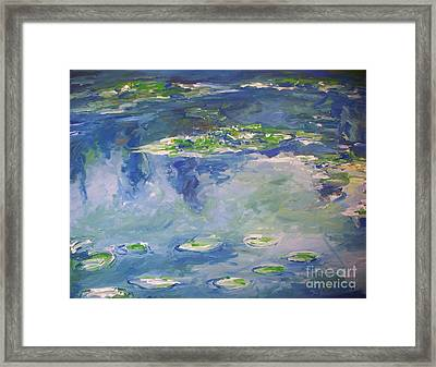 Water Lilies Giverny Framed Print by Eric  Schiabor
