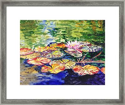 Water Lilies Framed Print by Irina Sztukowski