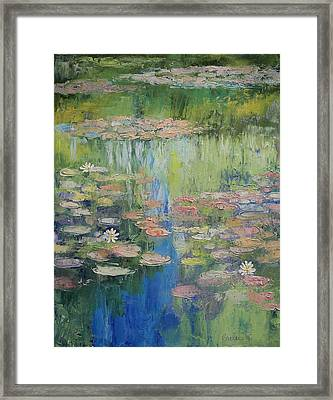 Water Lily Pond Framed Print by Michael Creese