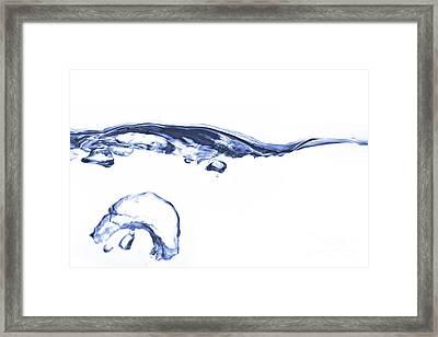 Wave - Splash Framed Print by Michal Boubin