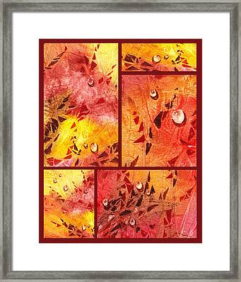Water On Color Collage Eight Framed Print by Irina Sztukowski