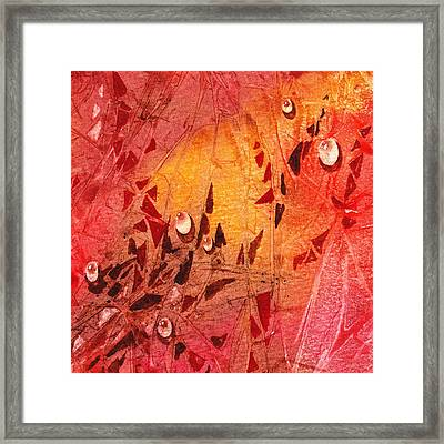 Water On Color Design Seven Framed Print by Irina Sztukowski