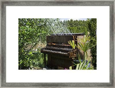 Water On My Piano Framed Print by Irene  Theriau