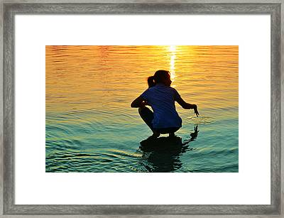 Water Play Framed Print by Laura Fasulo