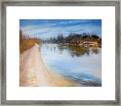Water Reflection Framed Print by Nancy Stutes