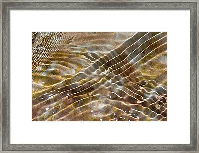 Water Ripples Framed Print by Dr Juerg Alean