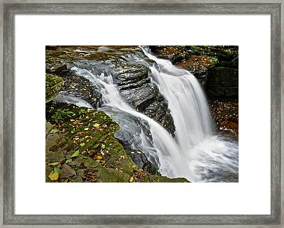 Water Rushes Forth Framed Print by Frozen in Time Fine Art Photography