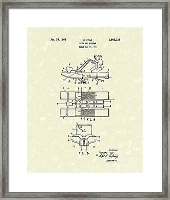 Water Scooter 1961 Patent Art Framed Print by Prior Art Design