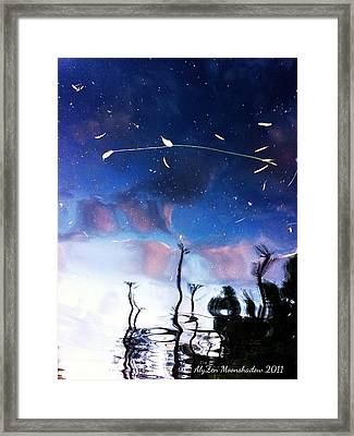 Water Sky Framed Print by AlyZen Moonshadow