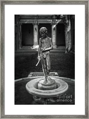 Water Spirit - Black And White Framed Print by Gregory Dyer