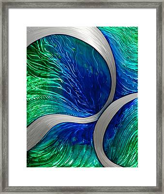 Water Spout Framed Print by Rick Roth