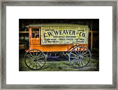 Water St. -  Chicago - The Salesman  Framed Print by Paul Ward