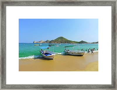 Water Taxi, Medano Beach, Cabo San Framed Print by Douglas Peebles