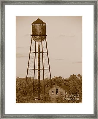 Water Tower Framed Print by Olivier Le Queinec
