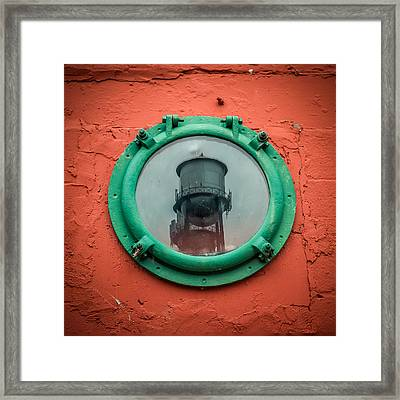 Water Tower Reflection Framed Print by Paul Freidlund