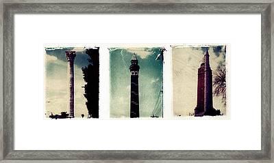 Water Towers St. Louis Framed Print by Jane Linders