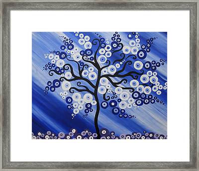 Water Tree Framed Print by Cathy Jacobs
