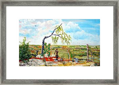 Southwest Texas Water Tree Framed Print by Michael Dillon