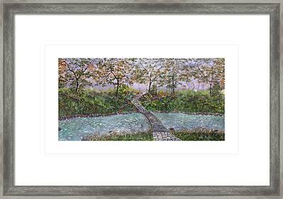 Water Under The Bridge Framed Print by Leo Gehrtz